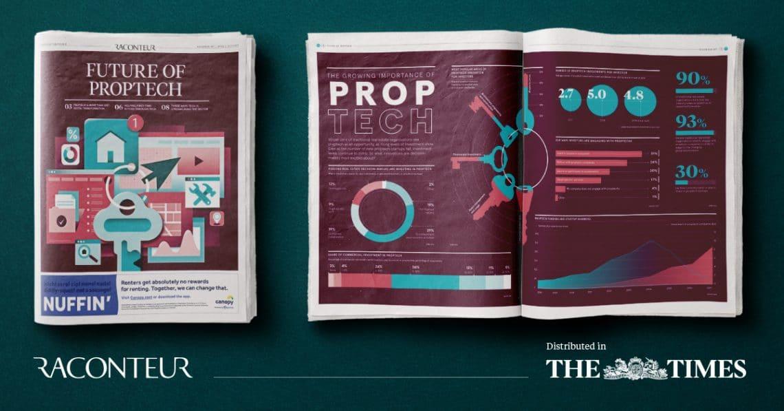 proptech newspaper spread