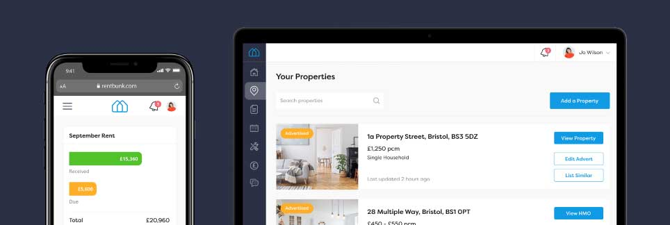 Pay rent dashboard